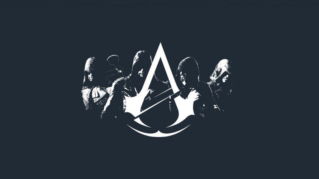 assassins creed unity logo minimalist wallpaper littledesignz hd 1920x1080 1366x768 1 تصاویر بازی ها